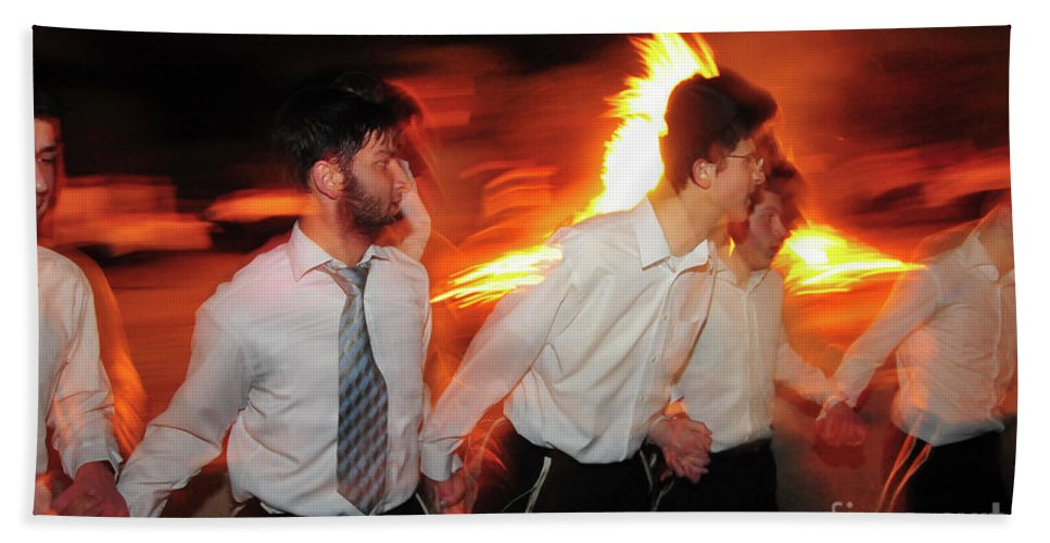 Bonfire Beach Towel featuring the photograph Lag B'omer by Shay Levy