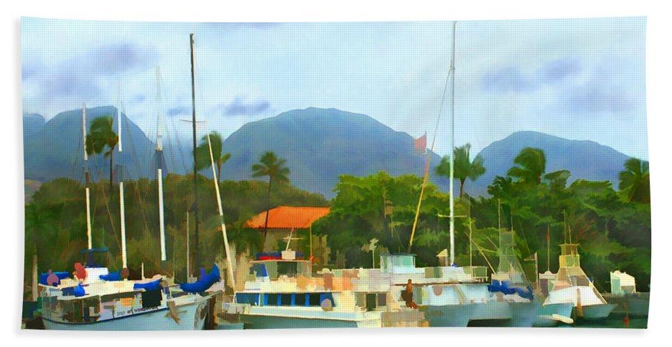 Lahina Beach Sheet featuring the photograph Lahina Harbor by Kurt Van Wagner