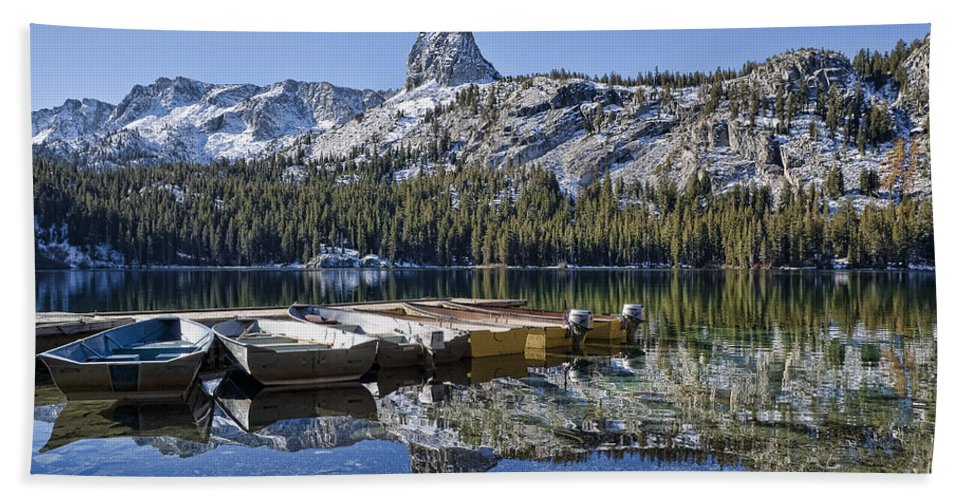 Water Beach Towel featuring the photograph Lake George by Kelley King