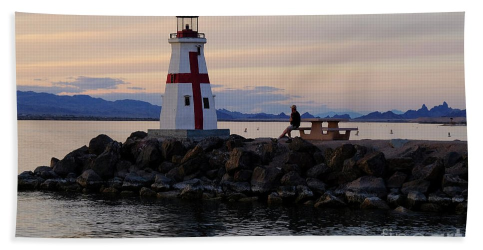 Sunset Beach Towel featuring the photograph Lake Havasu Sunset by Barry Goble