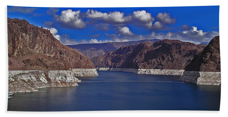 Water Beach Towel featuring the photograph Lake Mead by David Campbell