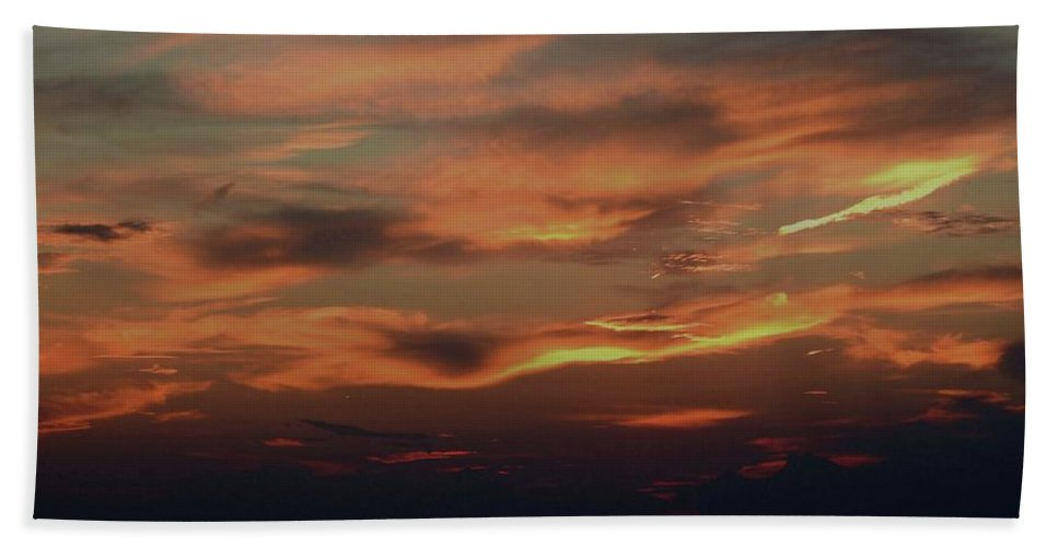 Sunset Beach Towel featuring the photograph Lake Michigan Sunset Photograph by David K Myers