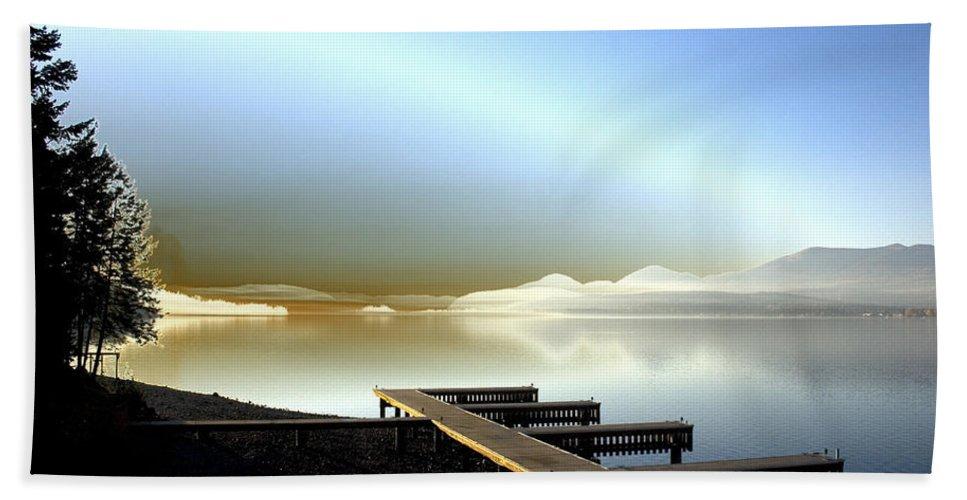 Landscape Beach Towel featuring the photograph Lake Pend D'oreille Fantasy by Lee Santa