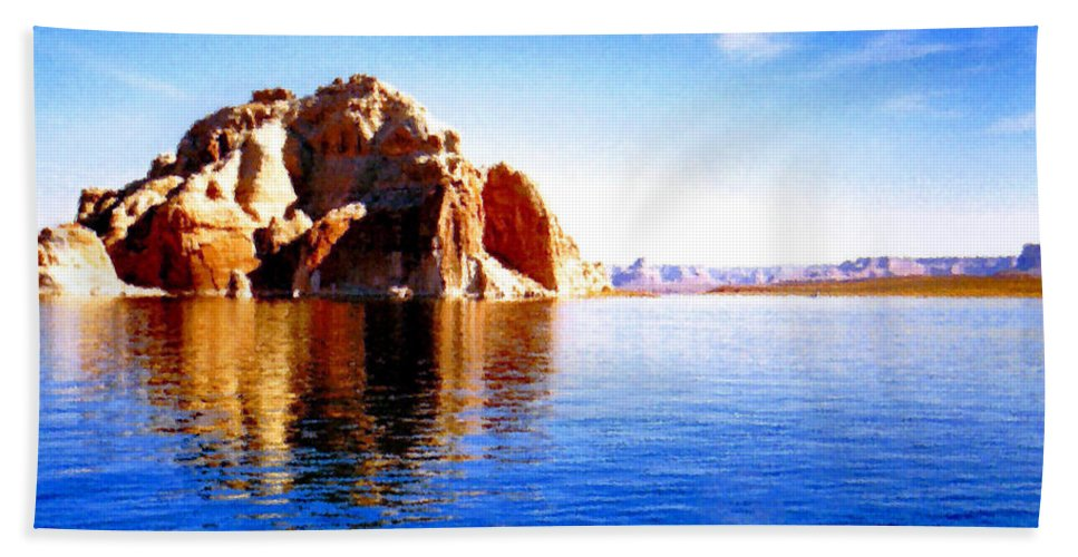 Lake Powell Beach Towel featuring the photograph Lake Powell by Kristin Elmquist