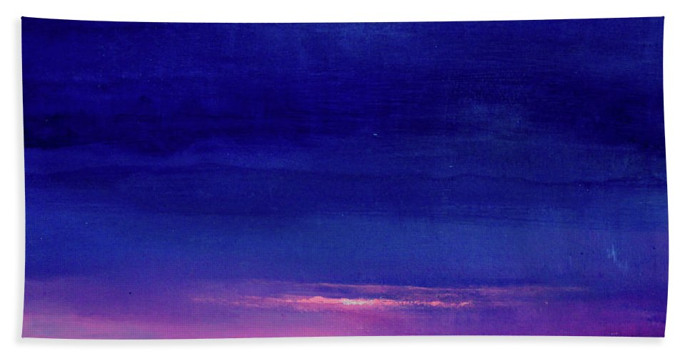 Night Beach Towel featuring the painting Lake Shimmers by Toni Grote