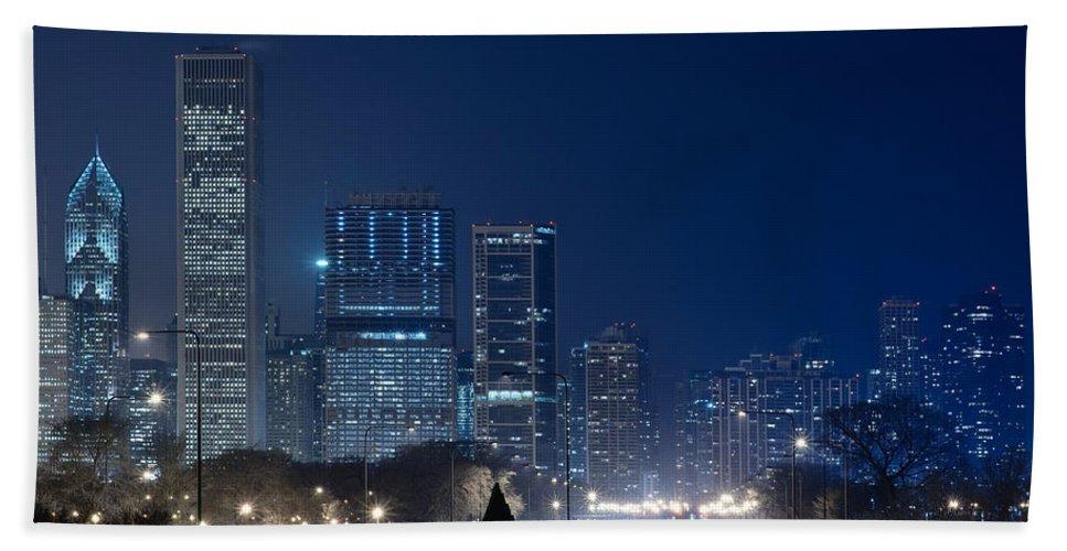 Building Beach Towel featuring the photograph Lake Shore Drive Chicago by Steve Gadomski