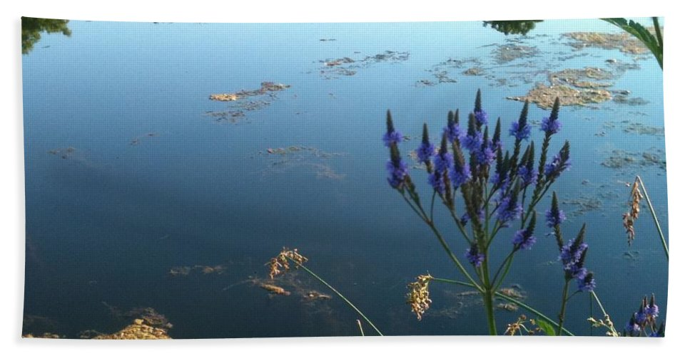 Landscape Beach Towel featuring the photograph Lake Side by Trish Hale