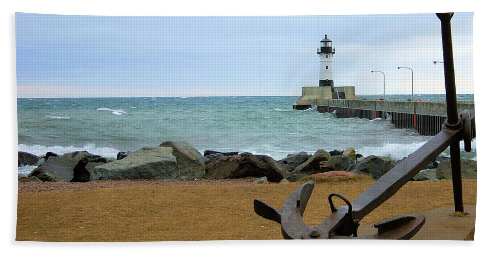 Lake Superior Beach Towel featuring the photograph Lake Superior by Kristin Elmquist