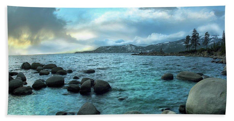Beaches Beach Towel featuring the photograph Lake Tahoe, Nevada by Tim Fitzharris