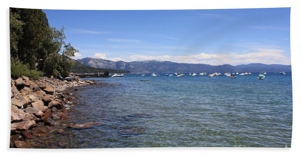 Lake Tahoe Beach Towel featuring the photograph Lake Tahoe Waterscape by Carol Groenen