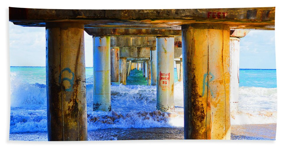 Lake Worth Beach Towel featuring the photograph Lake Worth, Florida Pier by Paul Cook