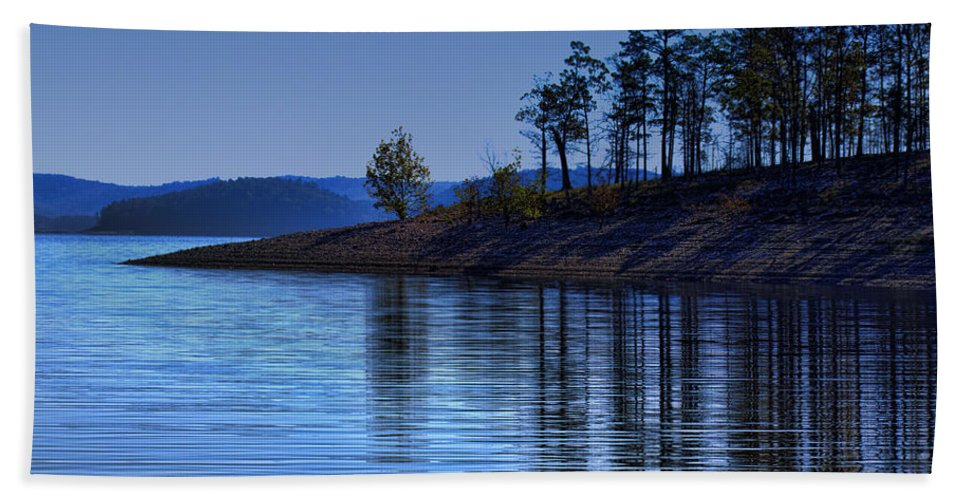 Lakeside Beach Towel featuring the photograph Lakeside-beavers Bend Oklahoma by Douglas Barnard