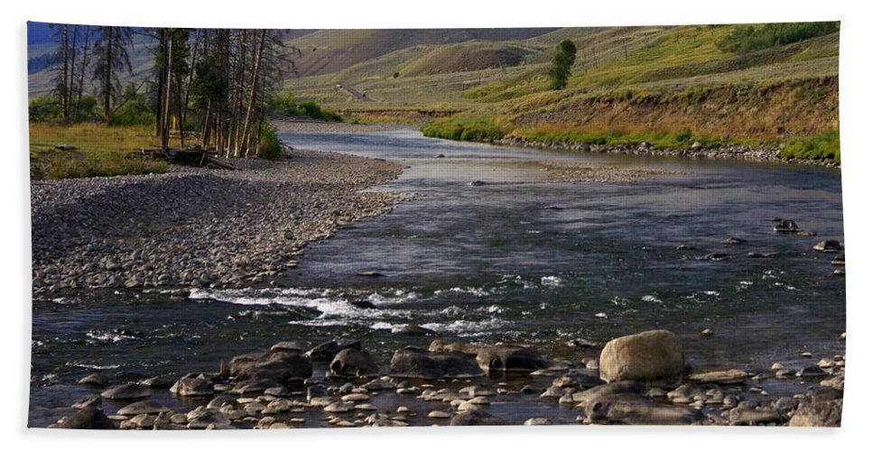 Yellowstone National Park Beach Towel featuring the photograph Lamar Valley 3 by Marty Koch