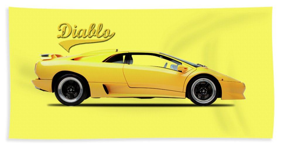Lamborghini Diablo Beach Towel featuring the photograph Lamborghini Diablo 88 by Mark Rogan