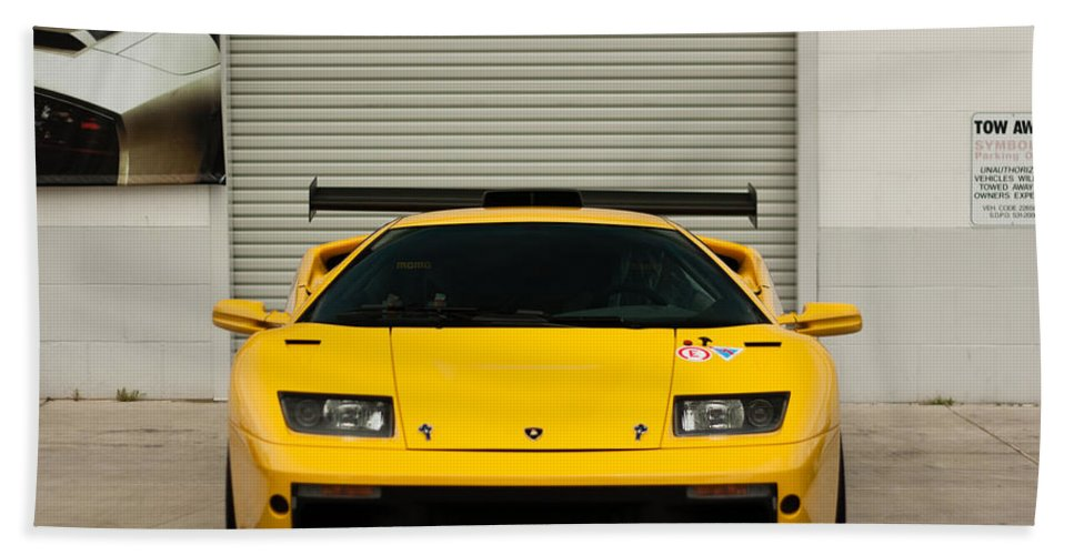 Lamborghini Diablo Gtr Beach Towel For Sale By Christian Flores
