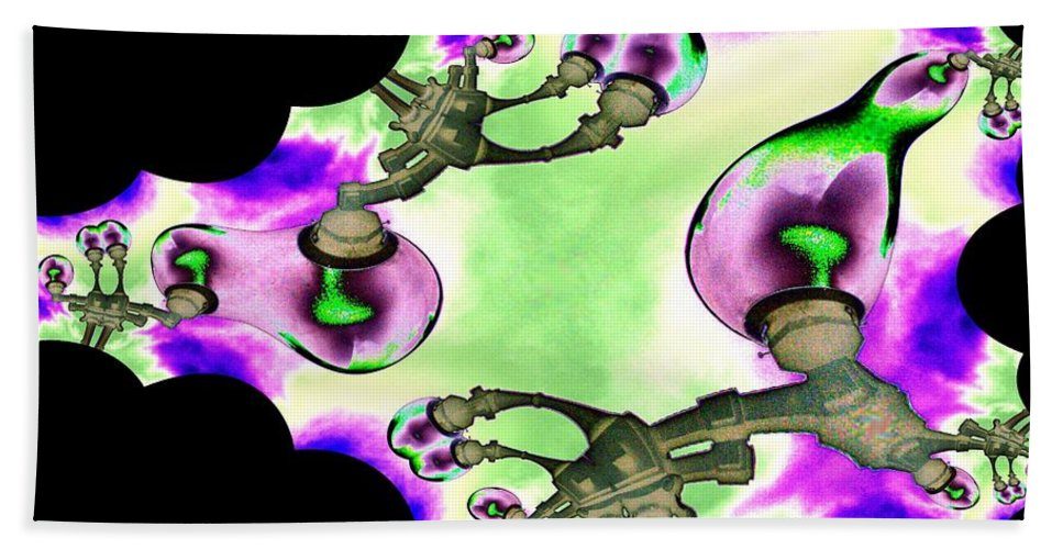 Lamps Beach Towel featuring the digital art Lamps by Tim Allen