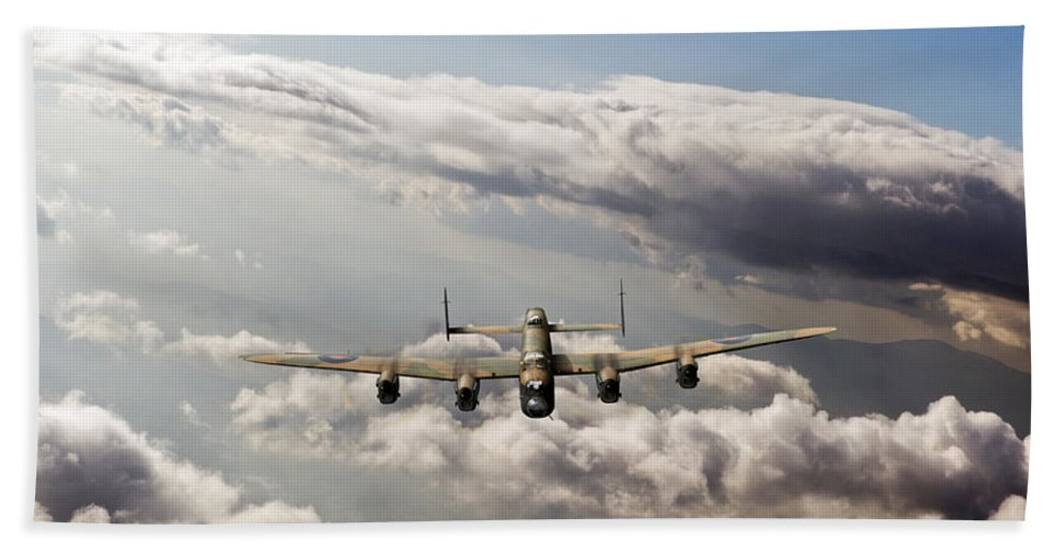 Lancaster Beach Towel featuring the photograph Lancaster Sunlit by Gary Eason