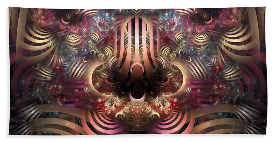 Fractal Beach Towel featuring the digital art Land Of Confusion by Amorina Ashton