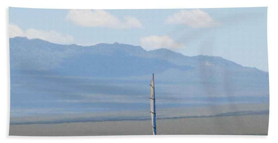 Beach Towel featuring the photograph Landsailing Too by Kelly Mezzapelle