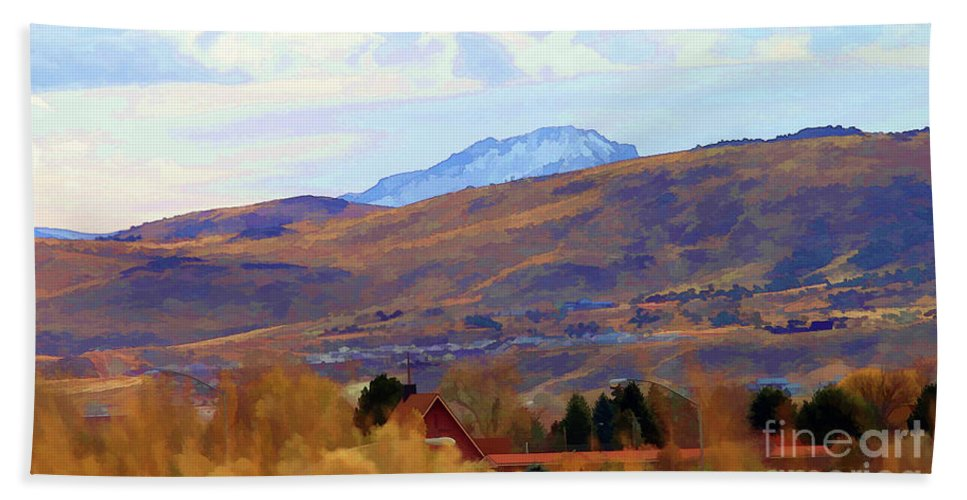 Wyoming Beach Towel featuring the photograph Landscape Wyoming State by Chuck Kuhn