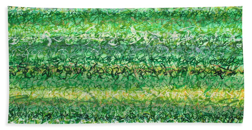Grass Beach Towel featuring the painting Language Of Grass by Jason Messinger