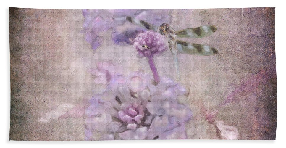 Flower Beach Towel featuring the photograph Lantana In Purple by Betty LaRue