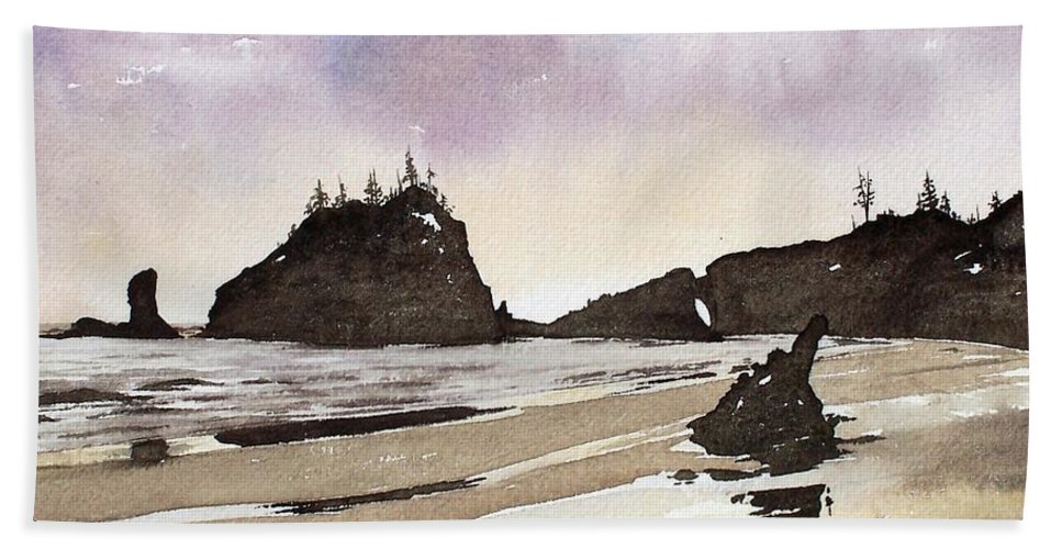 Washington Beach Sheet featuring the painting Lapush by Gale Cochran-Smith