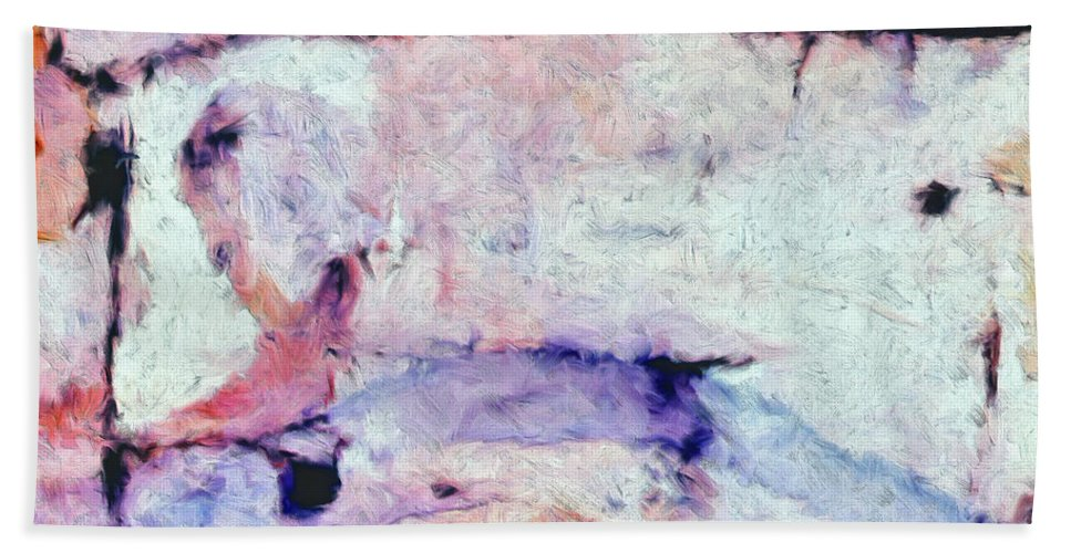 Abstract Beach Towel featuring the painting Laredo by Dominic Piperata