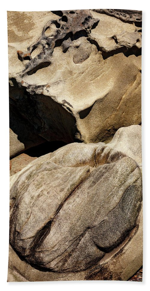 Rocks Beach Towel featuring the photograph Larrabee Rocks 8 by Mike Penney