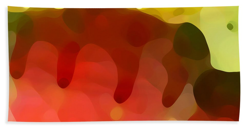Abstract Beach Sheet featuring the painting Las Tunas Ridge by Amy Vangsgard
