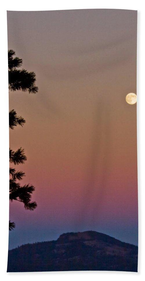 Full Moon Beach Towel featuring the photograph Lassen Sunset by Albert Seger