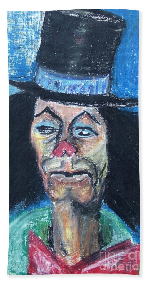 Clown Beach Towel featuring the painting Last Laughs by Caroline Street