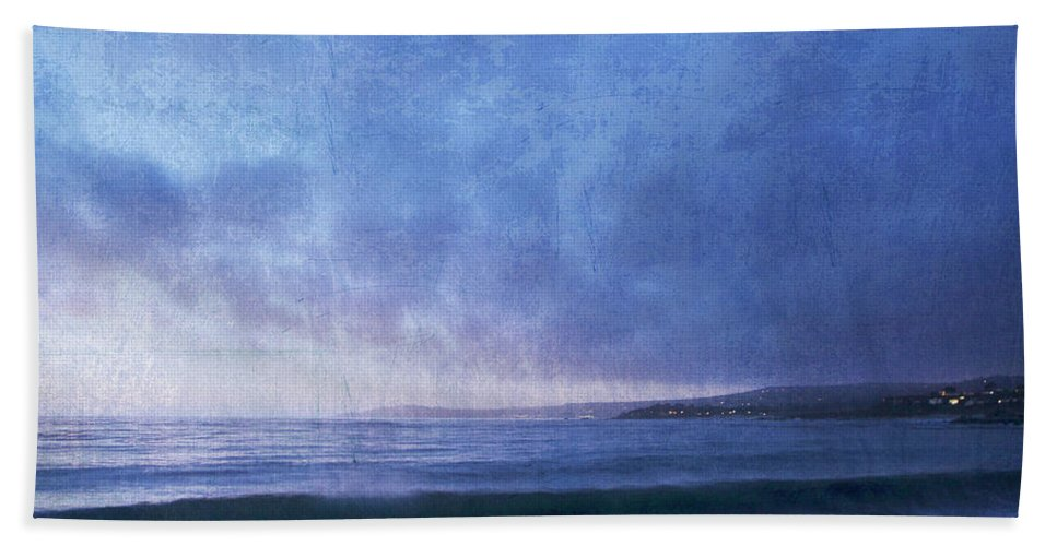 Beach Towel featuring the photograph Last Light On Carmel Bay by Guy Crittenden
