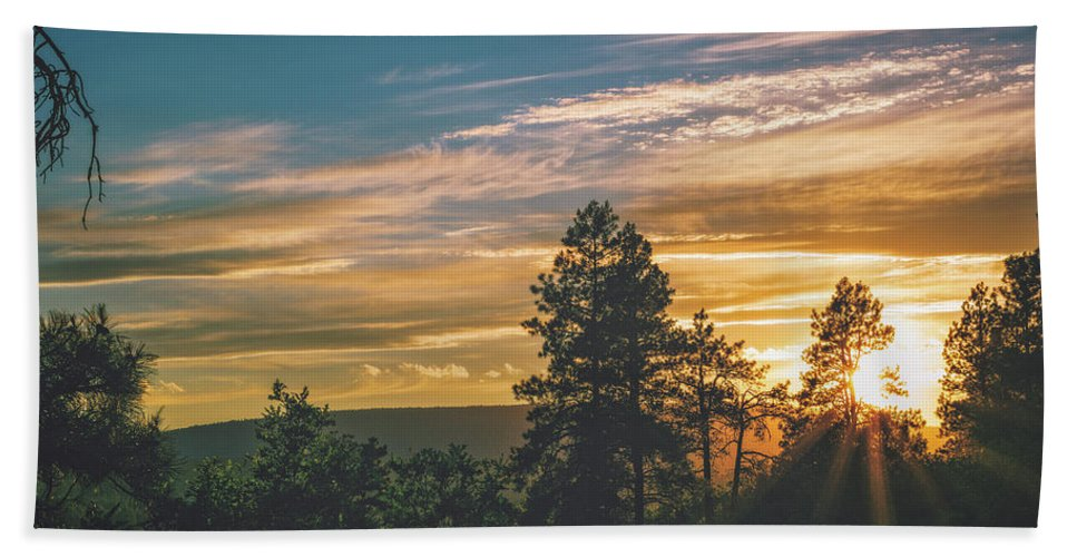 Sunset Beach Towel featuring the photograph Last Rays Of Sunday by Jason Coward