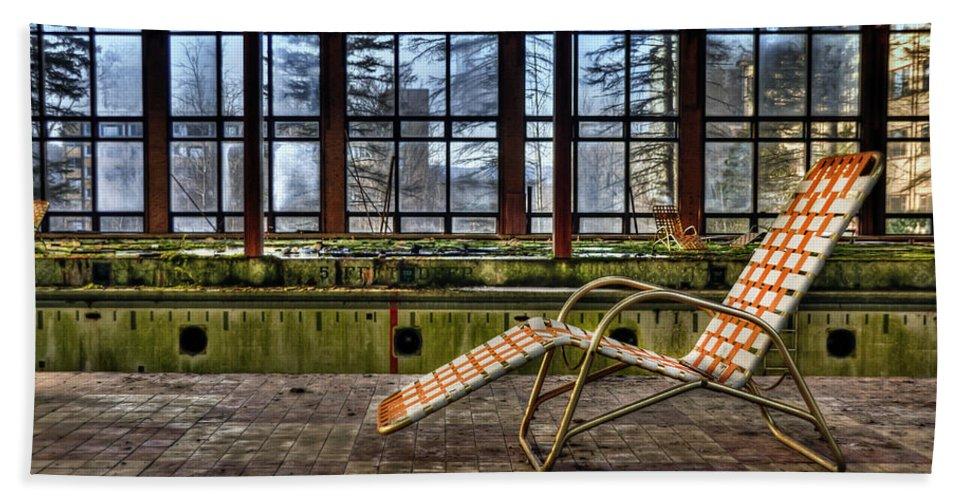 Lounge Beach Towel featuring the photograph Last Resort by Evelina Kremsdorf
