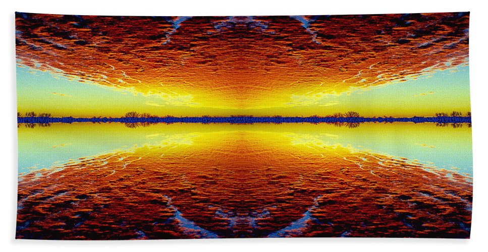 Sunset Beach Towel featuring the photograph Last Sunset by Nancy Mueller