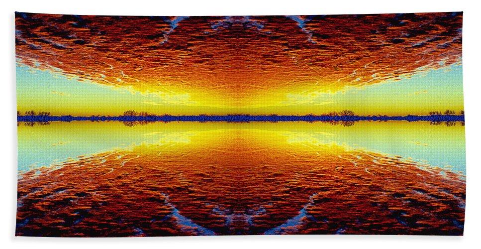 Sunset Beach Sheet featuring the photograph Last Sunset by Nancy Mueller