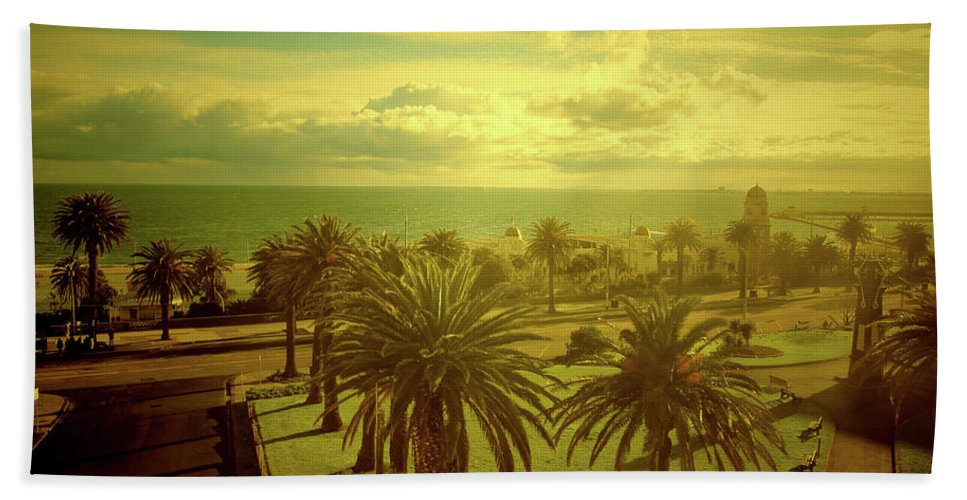Australia Beach Towel featuring the photograph Late Afternoon by Douglas Barnard