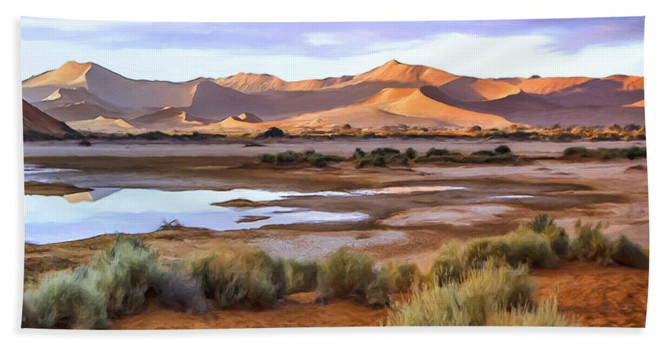 Late Afternoon Beach Towel featuring the painting Late Afternoon Rain by Dominic Piperata