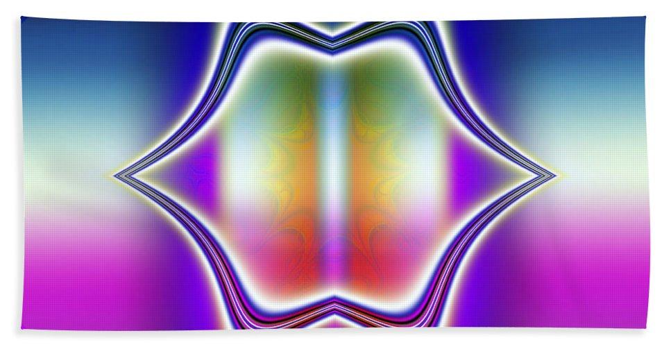 Fractal Beach Towel featuring the digital art Laugh Out Loud by Debra Martelli