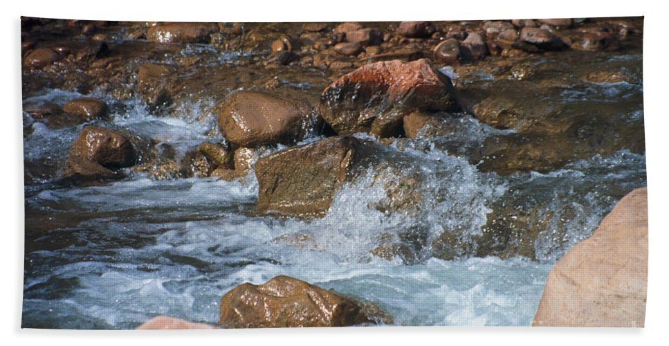 Creek Beach Sheet featuring the photograph Laughing Water by Kathy McClure