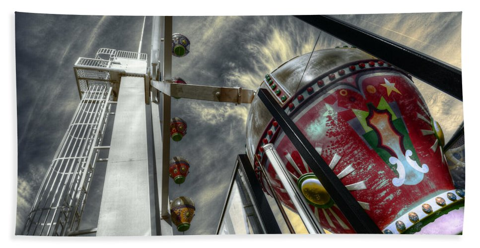 Amusement Beach Towel featuring the photograph Launch Pad by Wayne Sherriff