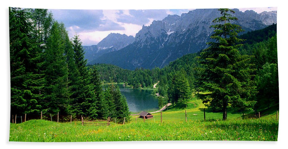 Alpine Beach Towel featuring the photograph Lautersee by Kevin Smith
