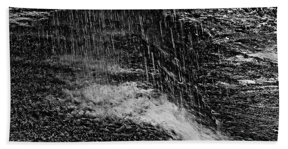 Falls Beach Towel featuring the photograph Lava Falls by Michael Bessler