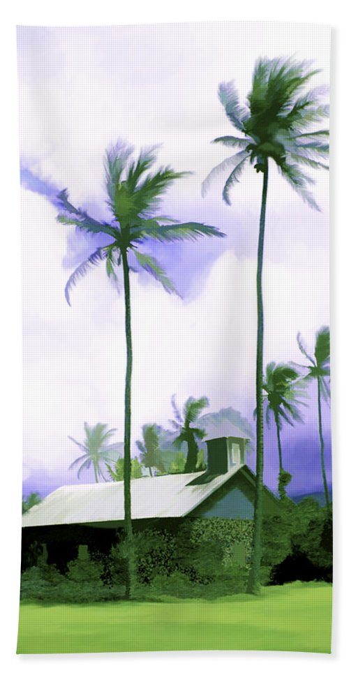 Hawaii Beach Sheet featuring the photograph Lava Rock Church by Kurt Van Wagner