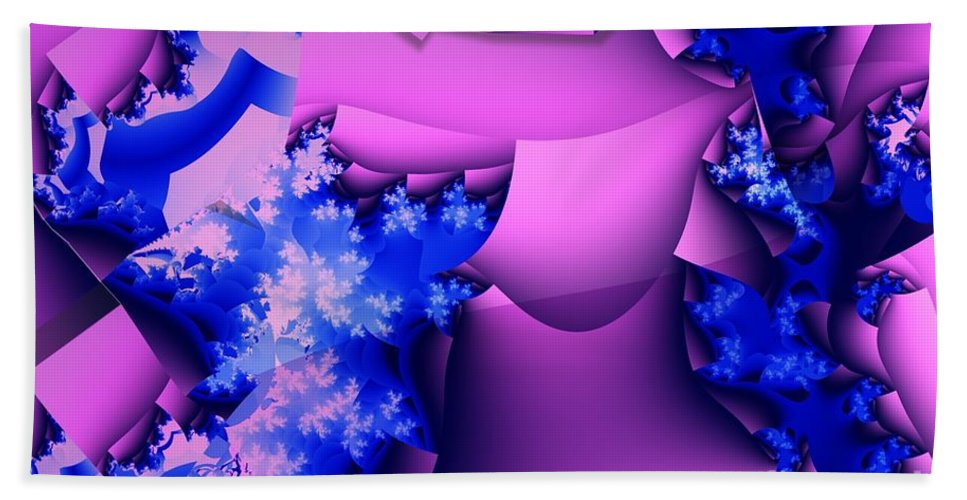 Lavender Beach Towel featuring the digital art Lavender Cups by Ron Bissett