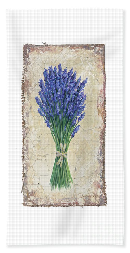 Lavender Beach Towel featuring the painting Lavender II by Danielle Perry