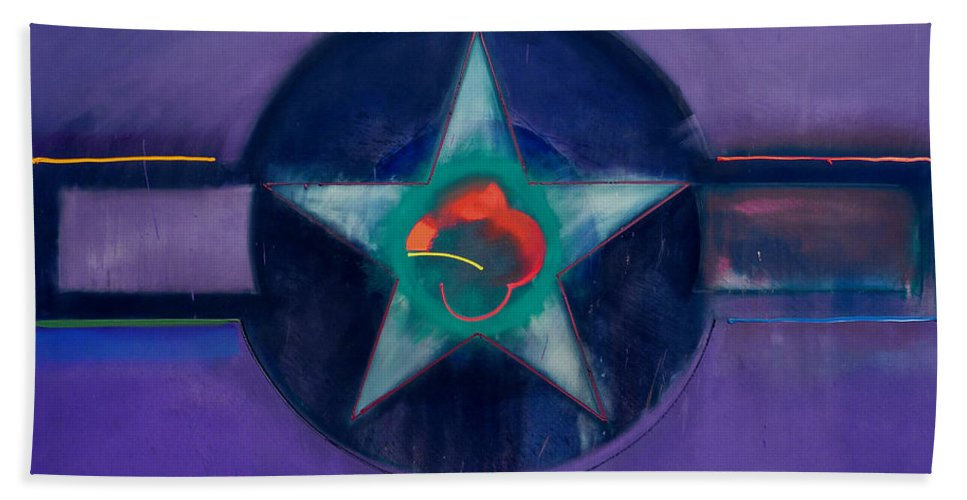 Usaaf Beach Towel featuring the painting Lavender Mist by Charles Stuart