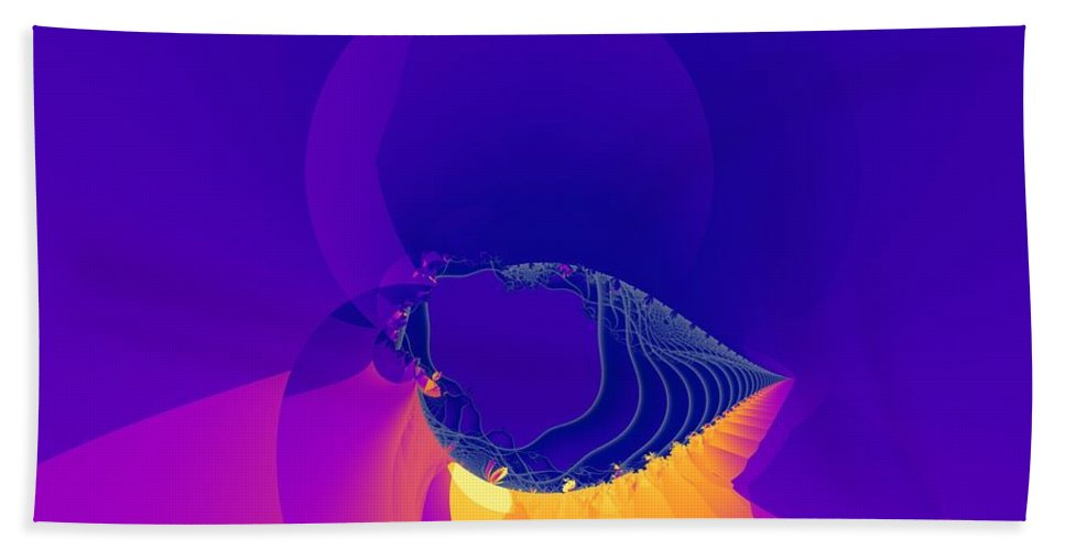 Fractal Art Beach Towel featuring the digital art Lavender Sky by Ron Bissett