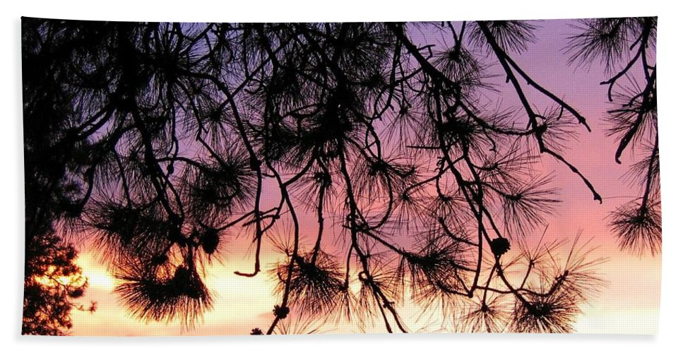 Sunset Beach Towel featuring the photograph Lavender Sunset by Will Borden